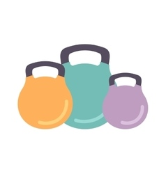 Dumbbells isolated vector