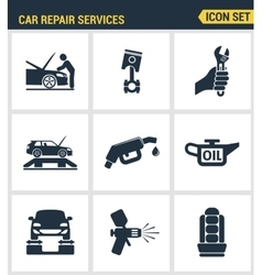 Icons set premium quality of car repair services vector