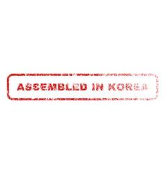 Assembled in korea rubber stamp vector
