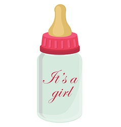 Baby bottle for girl vector image vector image