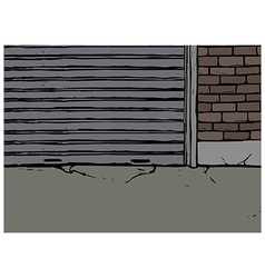 Backstreet alleyway scene vector