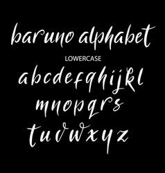 Baruno alphabet typography vector