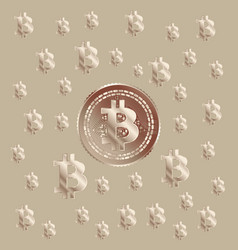 bitcoin copper pattern vector image vector image