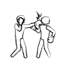 Boxing figther trainning vector