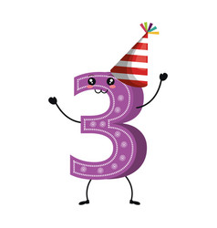 Candle birthday number character vector