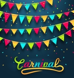 Carnival Party Dark Background with Colorful vector image