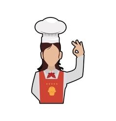 Chefs hat chef woman female avatar person icon vector image