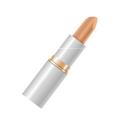 Elegant beige lipstick in beige color isolated on vector