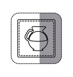 Figure emblem sticker water pitcher icon vector
