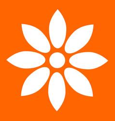 Flower white icon vector