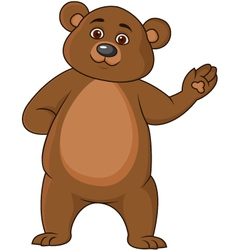 Funny brown bear cartoon vector