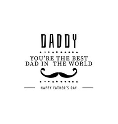 happy father day vector image