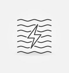 Hydroelectricity minimal icon vector