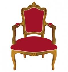 Louis xv armchair vector image