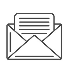 Mail envelope linear icon vector