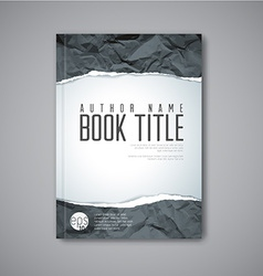 Modern abstract book cover template vector