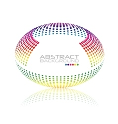 Multicolored globe Oval sphere abstract vector image