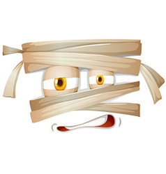 Mummy emojicon facial expression vector image