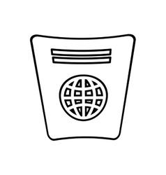 Passport identification tourist line vector