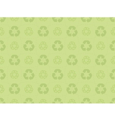 pattern with recycle icons vector image vector image