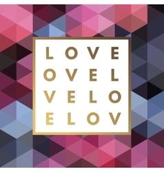 Romantic logo in frame vector image