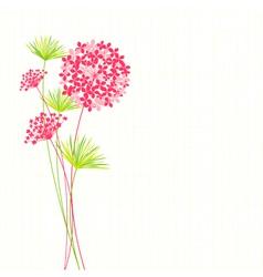Springtime Hydrangea Flower vector image vector image