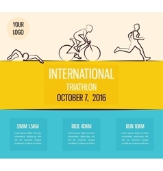 triathlon flat design vector image