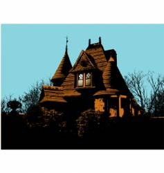 Victorian house vector