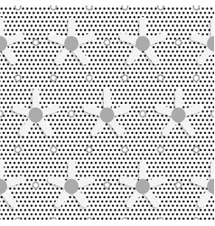White daisy flower on black dots textured pattern vector image vector image