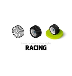 Racing icon in different style vector image