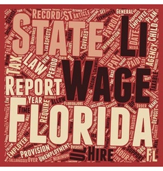 Payroll florida unique aspects of florida payroll vector