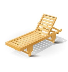 Wooden beach bed vector