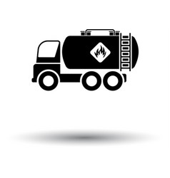 oil truck icon vector image