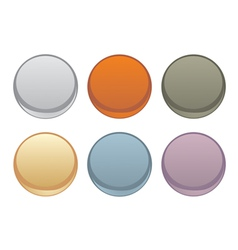 Colorful web buttons set isolated on white vector image