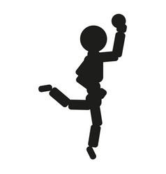gymnast woman ball sign vector image