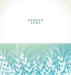 Cover card with floral arrangement vector