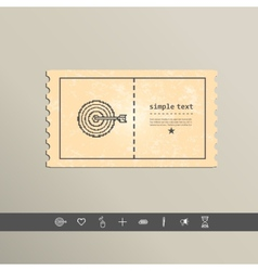 Simple stylish pixel icon darts design vector