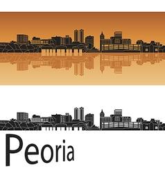 Peoria skyline in orange vector