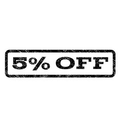 5 percent off watermark stamp vector image