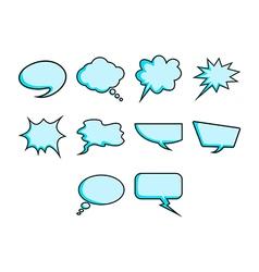 Word bubbles icon set vector