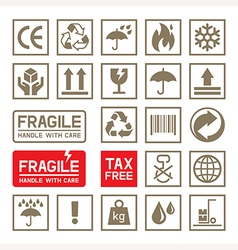 Carton Cardboard Box Icons vector image
