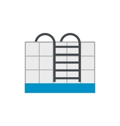 Stairs of the swimming pool flat icon vector