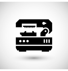 Metal cutting machine icon vector
