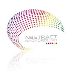 Abstract swirl icon colorful dots design vector
