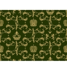 Royal crown seamless pattern vector