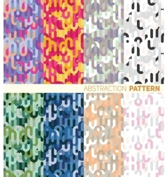A set of colorful abstract pattern vector image vector image