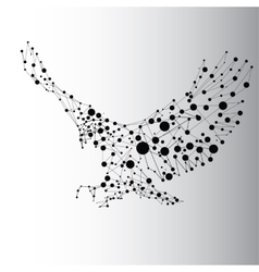 Abstract black eagle vector image