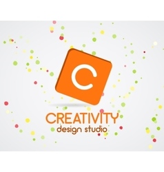 Abstract logo design creativity studio vector