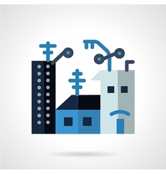 Apartments for rent flat icon vector image vector image