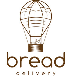 Bread delivery concept with air balloon vector